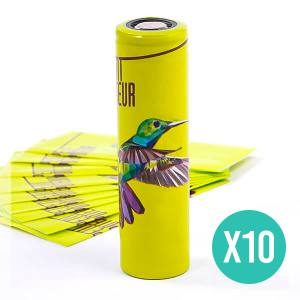 Pack de 10 Wraps 18650 Collection Les Animaux LPV