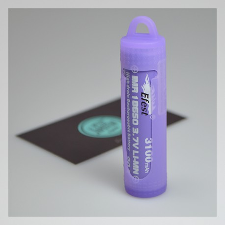 Silicone protection case for 18650 batts