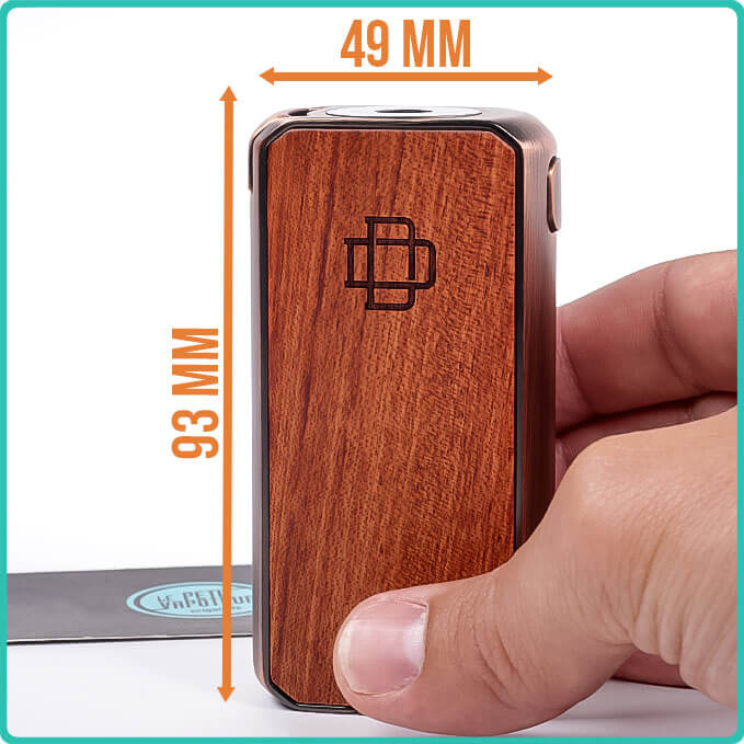Размеры Box Druga Foxy Copper Wood Edition Augvape
