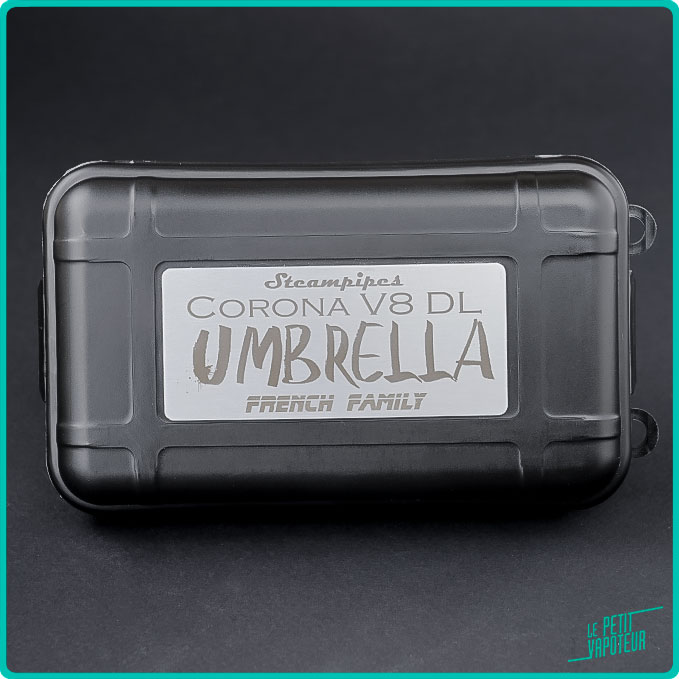 Packaging du Corona V8 édition limitée Umbrella Steampipes