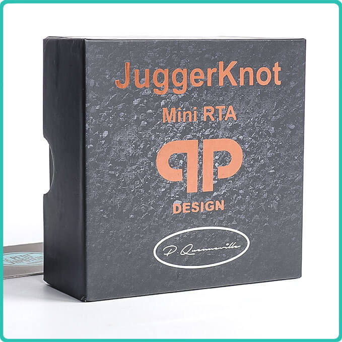 Packaging du Juggerknot Mini RTA QP Design