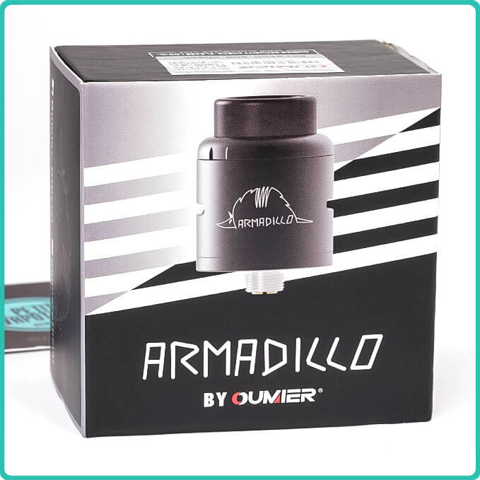 Packaging du Dripper Armadillo RDA Oumier