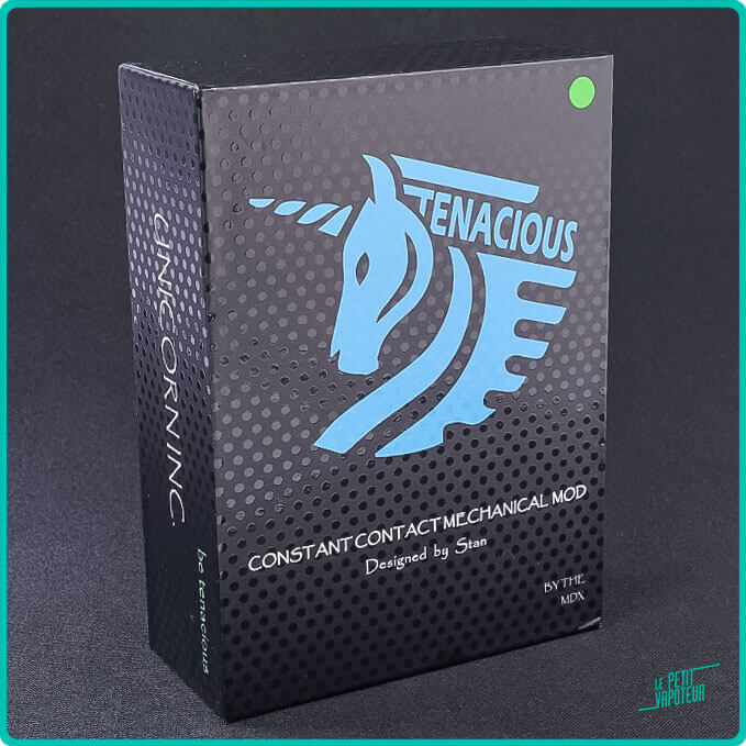 Packaging du Mod Tenacious Unicorn Vapes