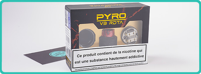 Packaging de l'Atomiseur Pyro V3 RDTA Vandy Vape