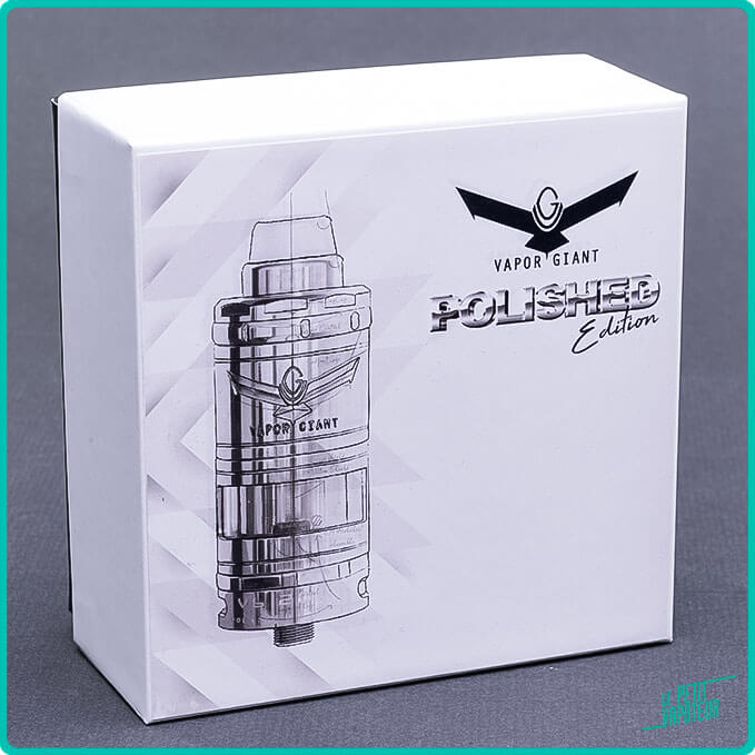 Packaging du V6 M 2020 Polished Edition Vapor Giant