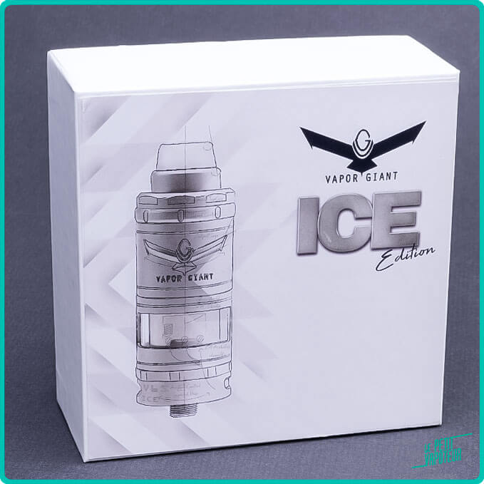 Packaging du V6 S 2020 Ice Edition Vapor Giant