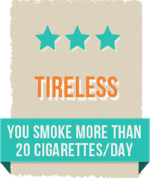 You smoke regularly over 20 cigarettes a day.