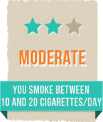 You smoke regularly between ten and twenty cigarettes a day. you always have a pack of cigarettes at hand.