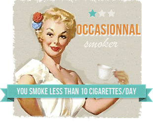 You smoke less than ten cigarettes a day, usually in the evenings to accompany your drink.